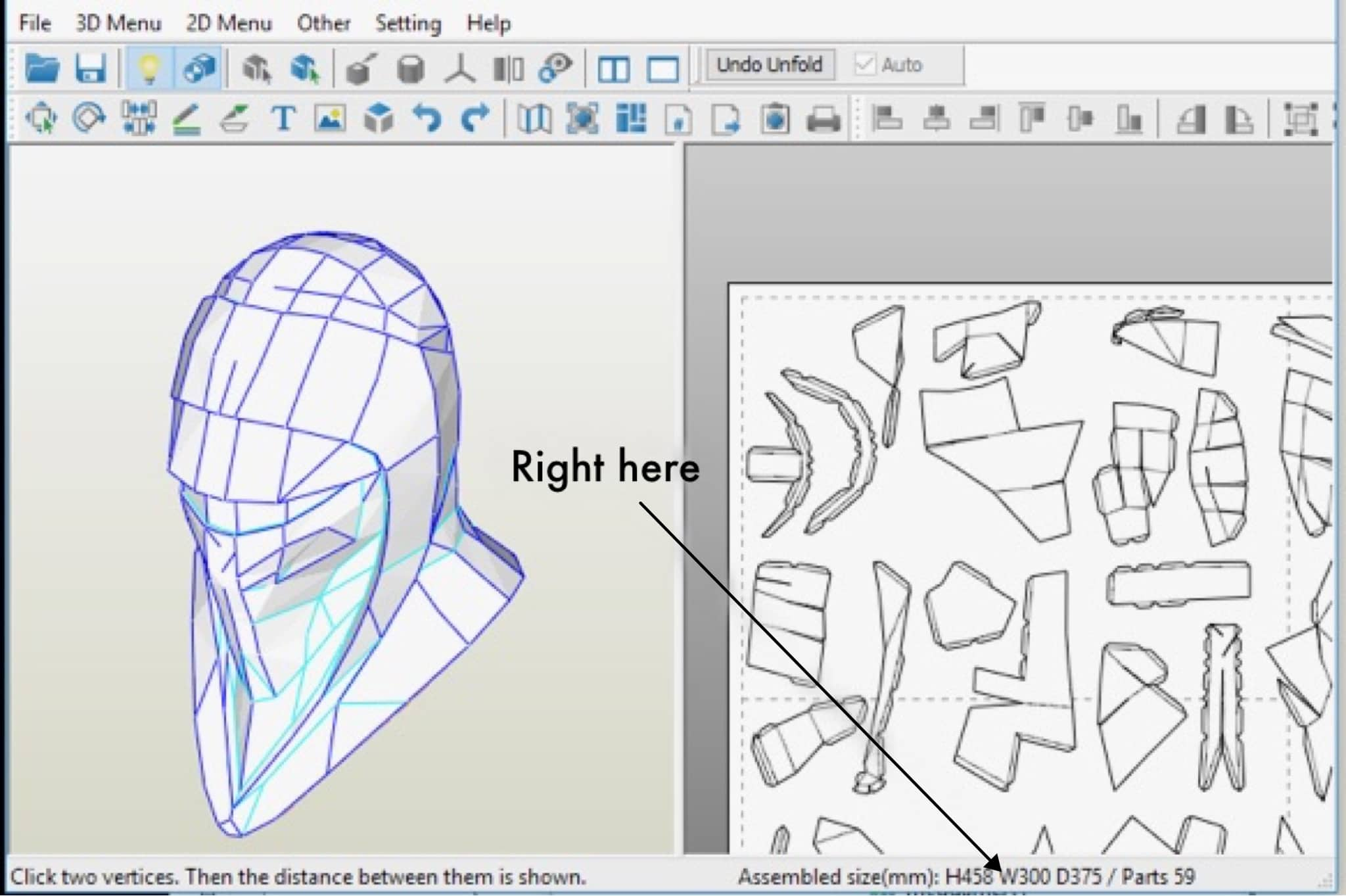 How to Scale Your Pepakura Helmet Project - Yay Monsters!